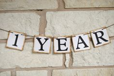 Anniversary Banner  Wedding Gift for Bride & by GreenJazzFace, $17.00