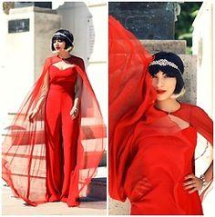 Ana Morodan - Michael Kors Red Palazzo Pants, Josephine Cristals Headband, Josephine Cristal&Pearls Bracelet - Red is for Superwomen