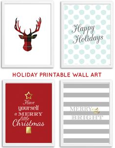 Free Printable Holiday Wall Art from @chicfetti #freeprintable #holiday