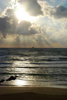 Mediterranean Sea with beautiful sky