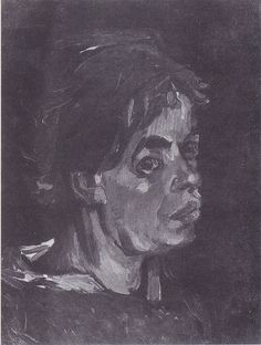 Van Gogh - Kopf einer Bäuerin mit dunkler Haube, 1885