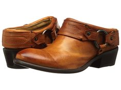 Frye Carson Clog Cognac Washed Antique Pull Up - Zappos.com Free Shipping BOTH Ways