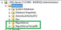 SQL Server Create a Local Report Server Database (Native Mode)