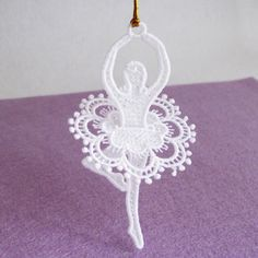 FSL Ballerina Free Standing Lace Machine Embroidery Designs Instant Download 4x4 hoop 5 designs APE2177 by embhome on Etsy https://www.etsy.com/listing/243527065/fsl-ballerina-free-standing-lace-machine