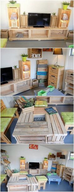 You can flourish add the use of the wood pallet in the excellent designing of the interesting wood pallet media table design as it is shown in this image. But wait! The interesting part of this wood pallet creation is that it would access you with the feel of adding your house areas with the modernity.