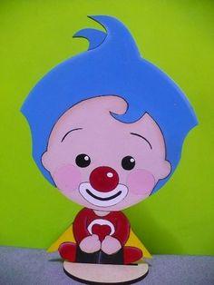 Payaso Plim Plim Adorno Torta, Centro De Mesa - $ 100,00 Carnival Themed Party, Party Themes, Tweety, Sonic The Hedgehog, Hello Kitty, Baby Boy, Pastel, Baby Shower, Cool Stuff