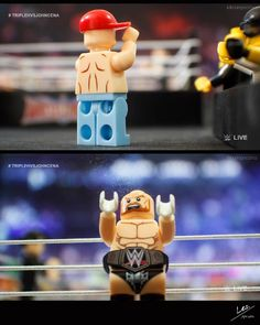 "WrestleLegoMania  WWE World Title Match/Last Man Standing/John Cena vs (c) Triple H - Part 1 of 7  Cena's theme song  [Lilian Garcia] ""From West Newbury Massachusetts weighting in at 240 pounds John Cena!""  [Jim Ross] ""Alright folks the time is upon us. The WWE World Title match is next."" [The King] ""Oh man I hope Triple H wins. It's best for business! Can you imagine someone like John Cena as champion. Talk about disgrace!"" [Jim Ross] ""As a matter of fact I can. I see nothing wrong with…"