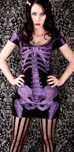 982657f1d Skeleton Dress in Purple http   www.mame.com.au