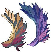 Ravelry: Phoenix-Wing / Phoenix-Flügel pattern by Nadine Schwingler