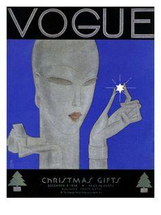 §§§ : Vogue Cover : December 1928  by Eduardo Garcia Benito