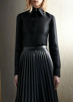 Celine pre-fall 2013. Falling in lust with black again.