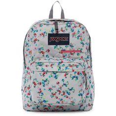 JANSPORT Digibreak Backpack ($27) ❤ liked on Polyvore featuring bags, backpacks, multi grey, day pack backpack, jansport rucksack, daypack bag, strap bag and jansport backpack
