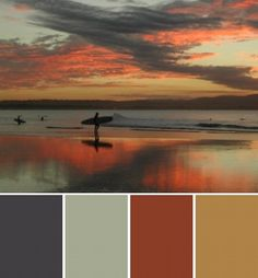 ..Interesting color scheme using a photo to draw color from.
