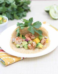 Shrimp Tacos with Mango Avocado Salsa - Spoonful of Flavor
