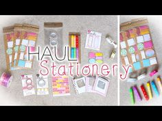 ✏ Cute Planner/Stationery Supplies Haul (NEW Michaels Planner Items) - YouTube