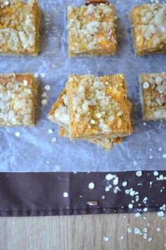 Pumpkin Pie Bars - with oatmeal and pecans