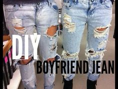 DIY boyfriend jean - YouTube