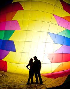 Inside a hot air balloon! #engagement #weddings #weddinginspiration