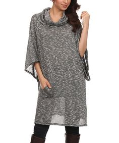 Another great find on #zulily! Charcoal Cowl Neck Tunic - Women #zulilyfinds