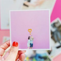 Print out your Instagram pics and add embroidery.