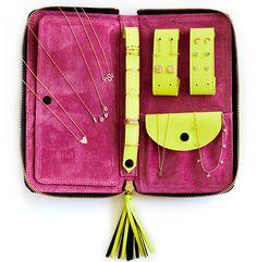 Ariel Gordon leather jewelry case, $275