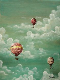Vintage hot air balloons by NeonRose12