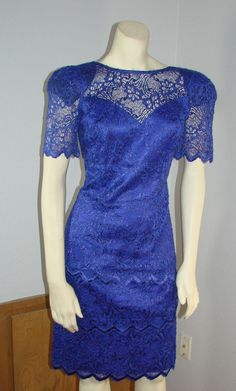 Vintage 80s Ala Carte Purple lace lady like by TheScarletMonkey