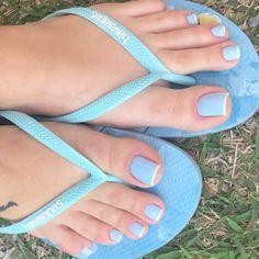 Image may contain: shoes and closeup Pretty Toe Nails, Cute Toe Nails, Pretty Toes, Toe Nail Art, Feet Nail Design, Toe Nail Designs, Beautiful Toes, Gorgeous Nails, Blue Toes