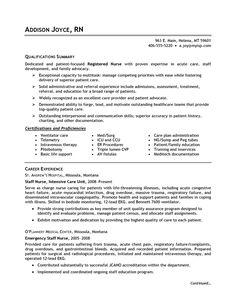 healthcare nursing sample resume