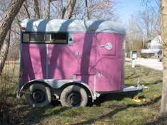 Pink horse trailer?