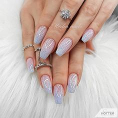 cute summer nails designs 2019 to make you look cool and stylish 37 Cute Summer Nail Designs, Cute Summer Nails, Cute Nails, Nail Swag, Bridal Nails Designs, Nail Art Designs, Winter Nail Art, Winter Nails, Manicure