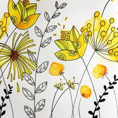 Learn how to paint this ink and watercolour flower painting. It's Day 59 of my #365daysofart a summer illustration of flowers. Join me for 365 Days of Art, where I have a go at a whole year's worth of art ideas. Filling my sketchbook to the brim with inspiration, crafts, doodles and drawings. Challenged yourself with me, or just get some great art ideas for a one-off project.