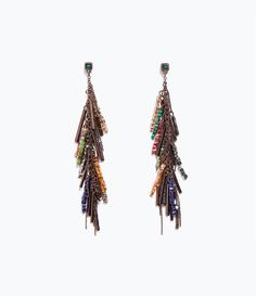 ZARA - WOMAN - CHAINS AND STONES EARRINGS