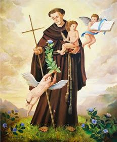 Religious Images, Religious Art, Happy Wedding Anniversary Wishes, Saint Anthony Of Padua, Christian Paintings, Arte Pop, Sacred Art, Cherub, Vintage Posters