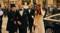 The Duke and Duchess of Cambridge arrive at Claridge's in Mayfair Photo: ITV