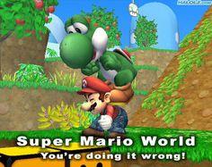 doing it wrong super mario