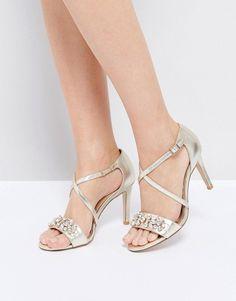 c5a5563a7bc Dune London Gold Embellished Heeled Sandals