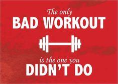 """Bad Workout"" Motivational Inspirational Sayings Poster [Multiple Sizes]"