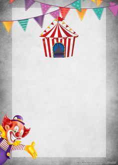 Christmas Party Invitation Wording, Carnival Birthday Invitations, Carnival Themed Party, Kids Birthday Party Invitations, Carnival Themes, Birthday Invitation Templates, Party Themes, Disney Invitations, Carnival Parties