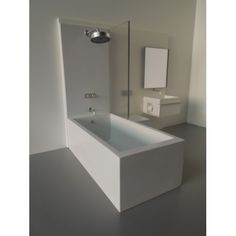 Modern Dollhouse Furniture | M112 PODS | Single Vanity Bath Unit with Tub/Shower and Toilet by Paris Renfroe Design                                                                                                                                                                                 More