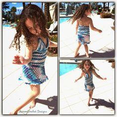 Crochet Mundial de Annoo: vestido Playa Con Patrón de Abigail