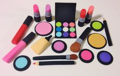 Large Makeup Glamour Package Fondant by SugarSweetsNTreats on Etsy
