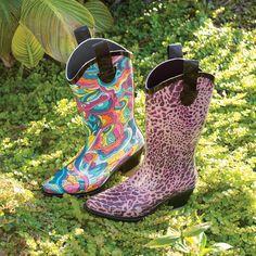Cute!! Cowboy boot rain boots