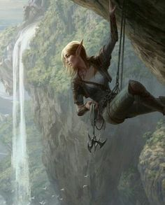 MtG Seek the Wilds by depingo on DeviantArt (detail) - Elven female mountain climbing. MtG Seek the Wilds by depingo on DeviantArt (detail) Elfa, Fantasy Artwork, Character Inspiration, Character Art, Character Portraits, Fantasy Kunst, Wow Art, Fantasy Girl, Fantasy Art Warrior