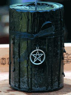 Witches Magick Candle - blue moon pagan wiccan witchcraft magick ritual supplies