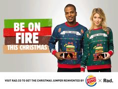 Burger King's Ridiculous Christmas Sweater Puts a Burning Yule Log on Your Belly | Adweek