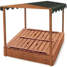 Badger Basket Covered Convertible Cedar Sandbox with Canopy and 2 Bench Seats Image 4 of 5