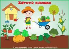 ABC Materská škola - Nový ŠVP pre MŠ - Zdravá zelenina a Záhradník - farebné predlohy na Interaktívnu tabuľu. Jungle Tree, Education, School, Garden, Plants, Food, Preschool, Country, Lawn And Garden