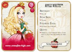 Apple White Character | Ever After High