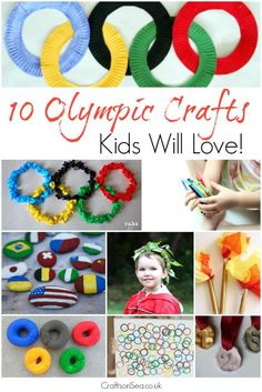 10 of the coolest and most fun Olympics crafts that your kids will love to make. Olympic rings, torches, medals and more - everything you need in one place!